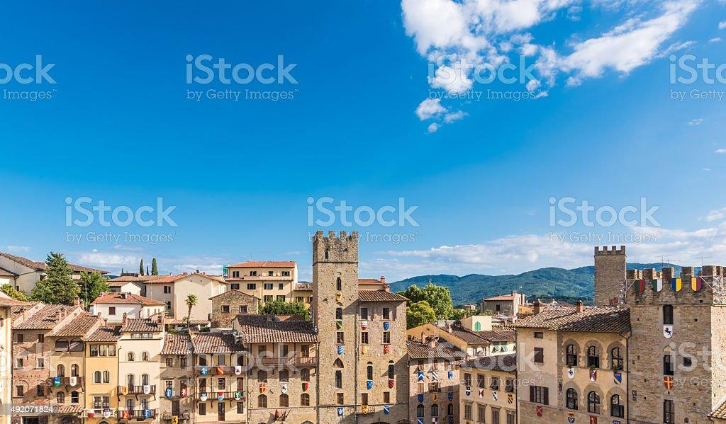 Piazza di Arezzo - foto stock