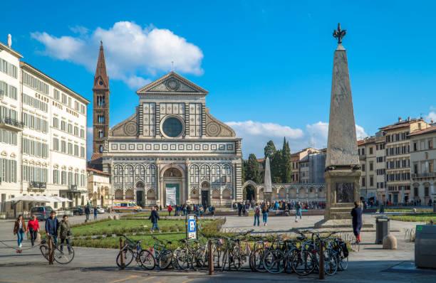 Piazza of Santa Maria Novella, Florence stock photo