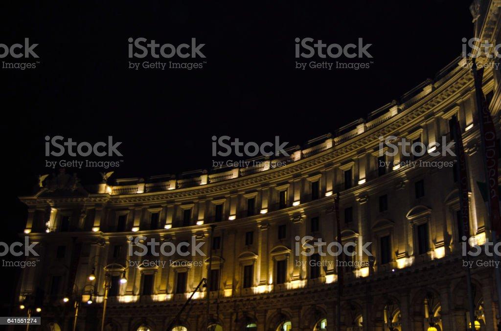 Piazza Repubblica stock photo
