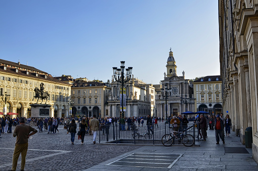 Piazza San Carlo by day