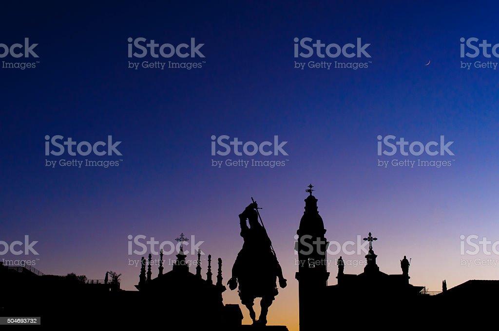 Piazza San Carlo stock photo