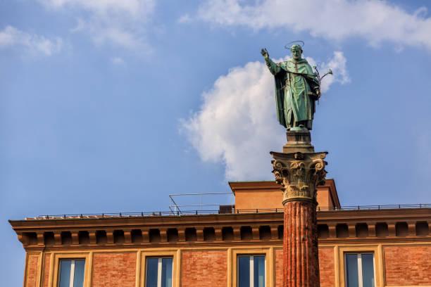 Piazza San Domenico, Bologna, Italy stock photo