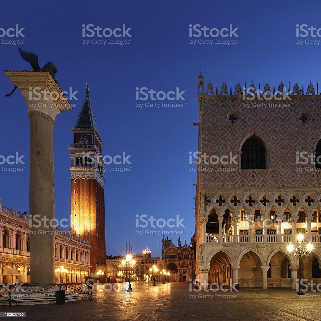Piazza San Marco before dawn royalty-free stock photo