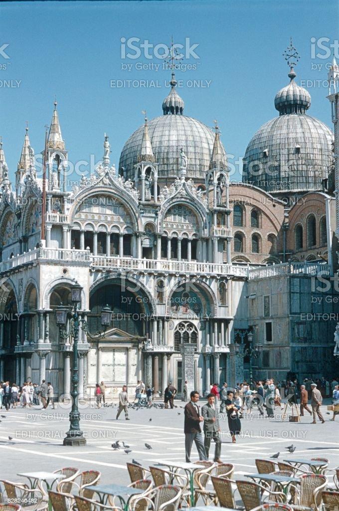 Piazza San Marco, Venice, 1965 stock photo