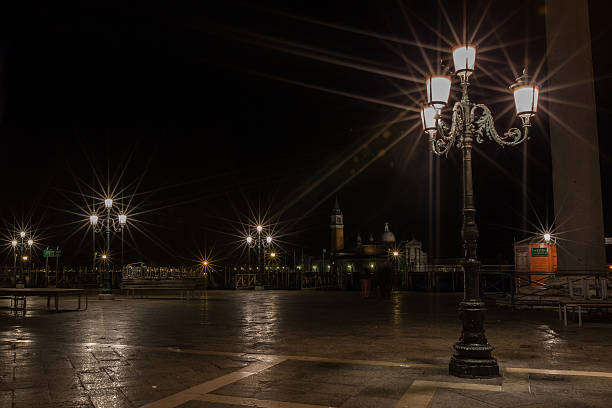 Piazza San Marco, Venice Italy Night stock photo