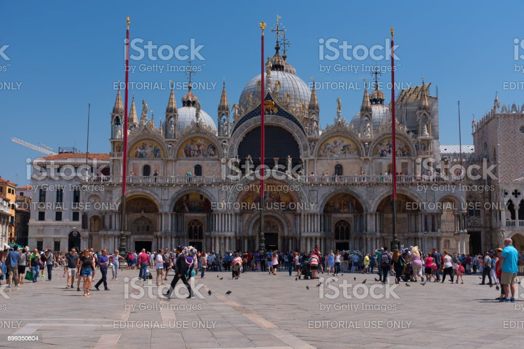 Piazza San Marco with the Basilica of Saint Mark stock photo