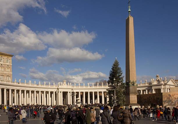 Piazza San Pietro in Rome stock photo