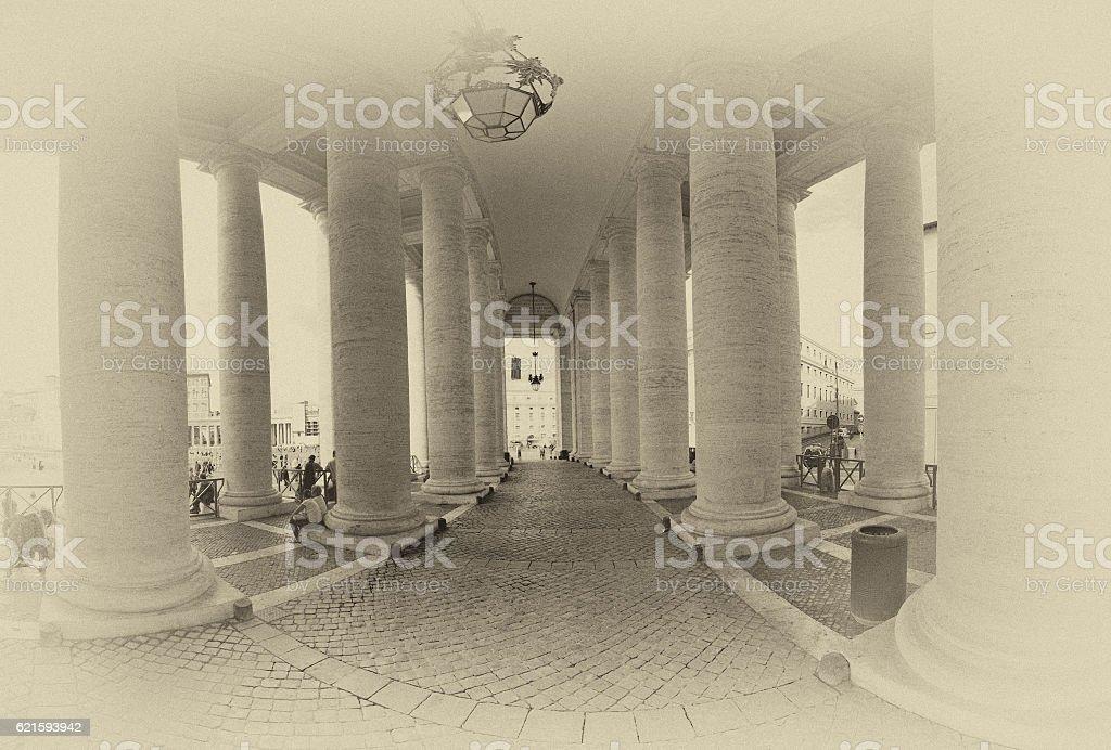 Piazza San Pietro in Vatican stock photo