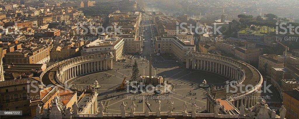 Piazza San Pietro royalty-free stock photo
