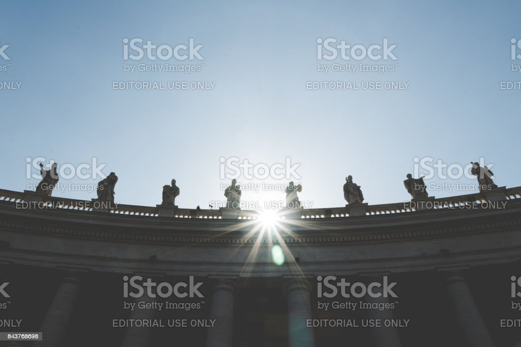 Piazza San Pietro, Vatican City, Italy stock photo