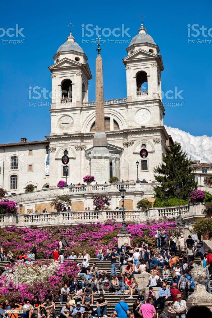 Piazza Spagna Rome stock photo