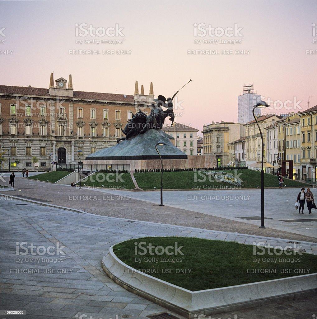 Piazza Trento e Trieste, Monza stock photo