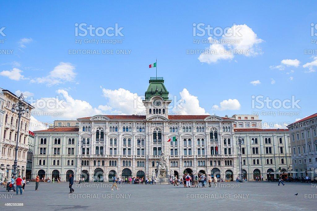 Piazza Unità d'Italia stock photo