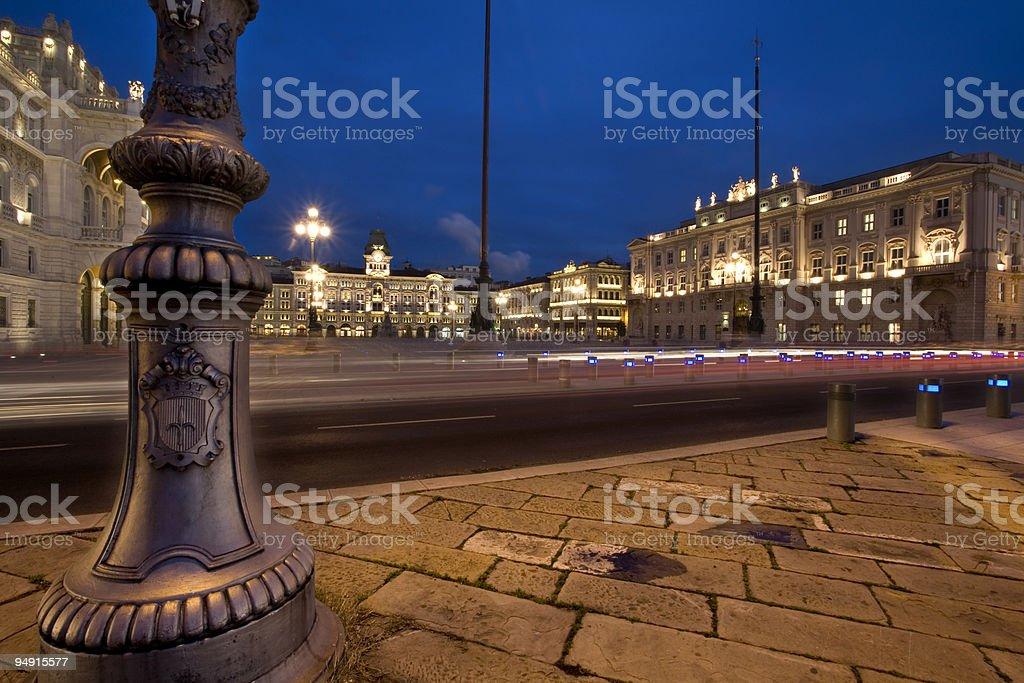 piazza unità d'italia, trieste royalty-free stock photo