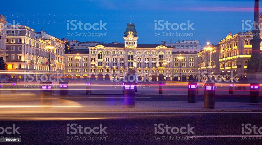 Piazza unità d'Italia, Trieste stock photo