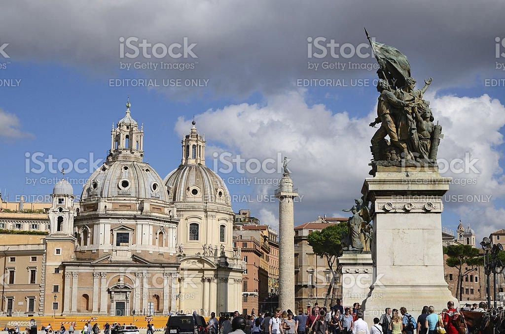 Piazza Venezia in Rome royalty-free stock photo