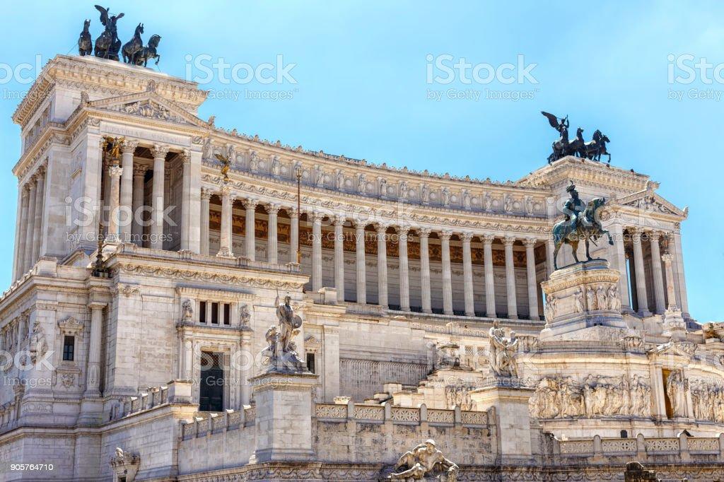 Piazza Venezia or Vittorio Emanuele Altar in Rome stock photo