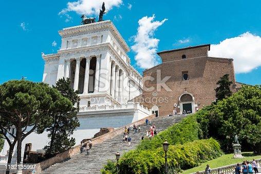 Piazza Venezia Rome Vittorio Emanuele Monument in Italy.