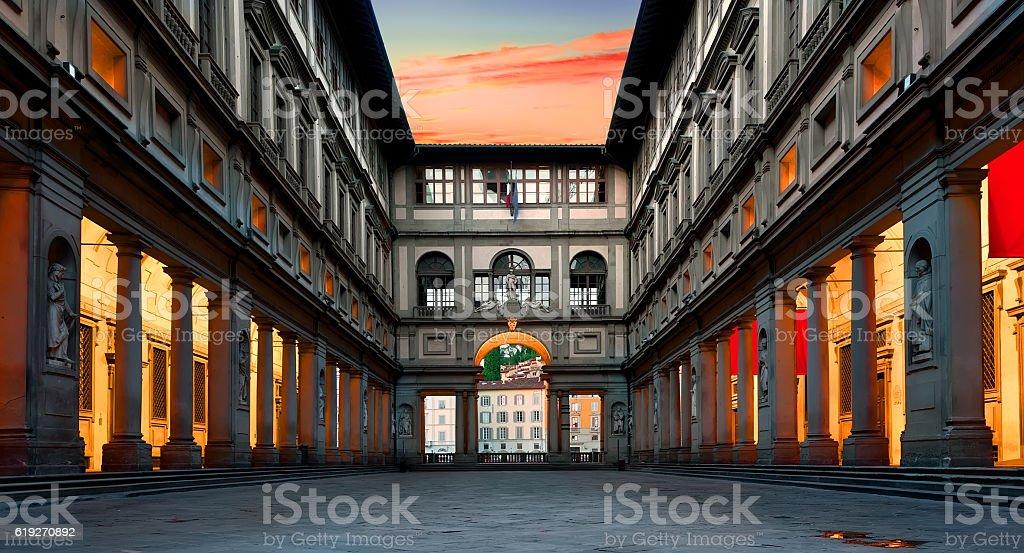 Piazzale degli Uffizi stock photo