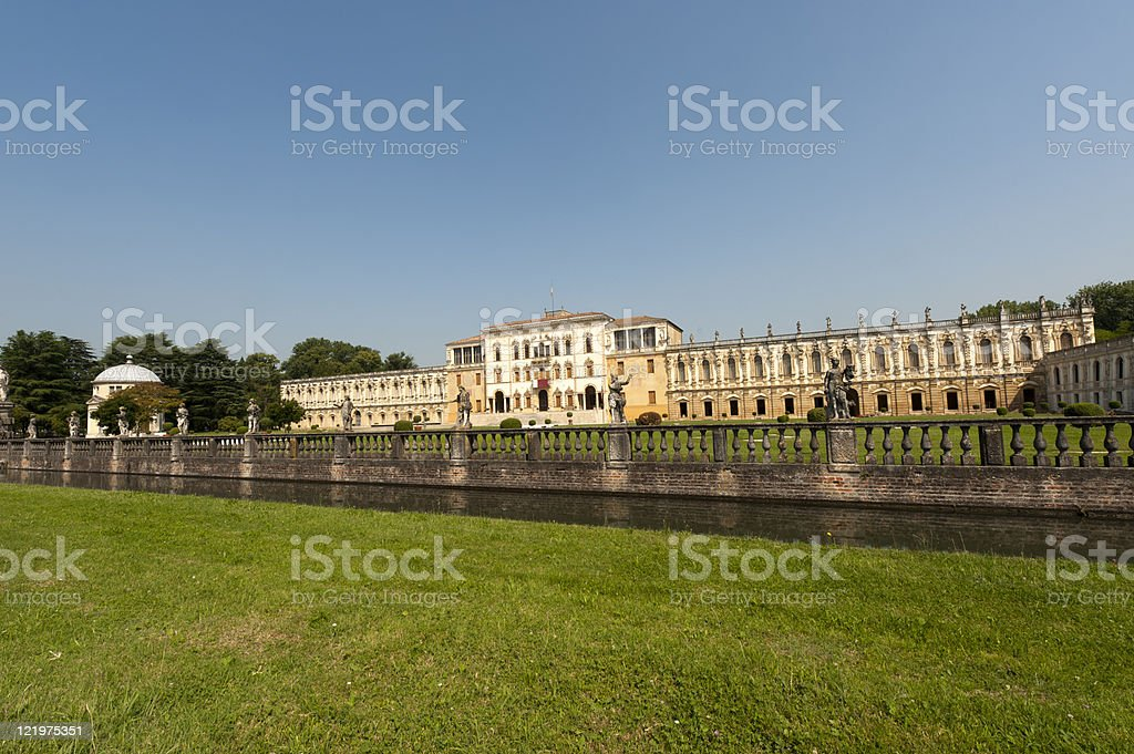 Piazzola sul Brenta (Padova, Veneto, Italy), Villa Contarini, historic building royalty-free stock photo