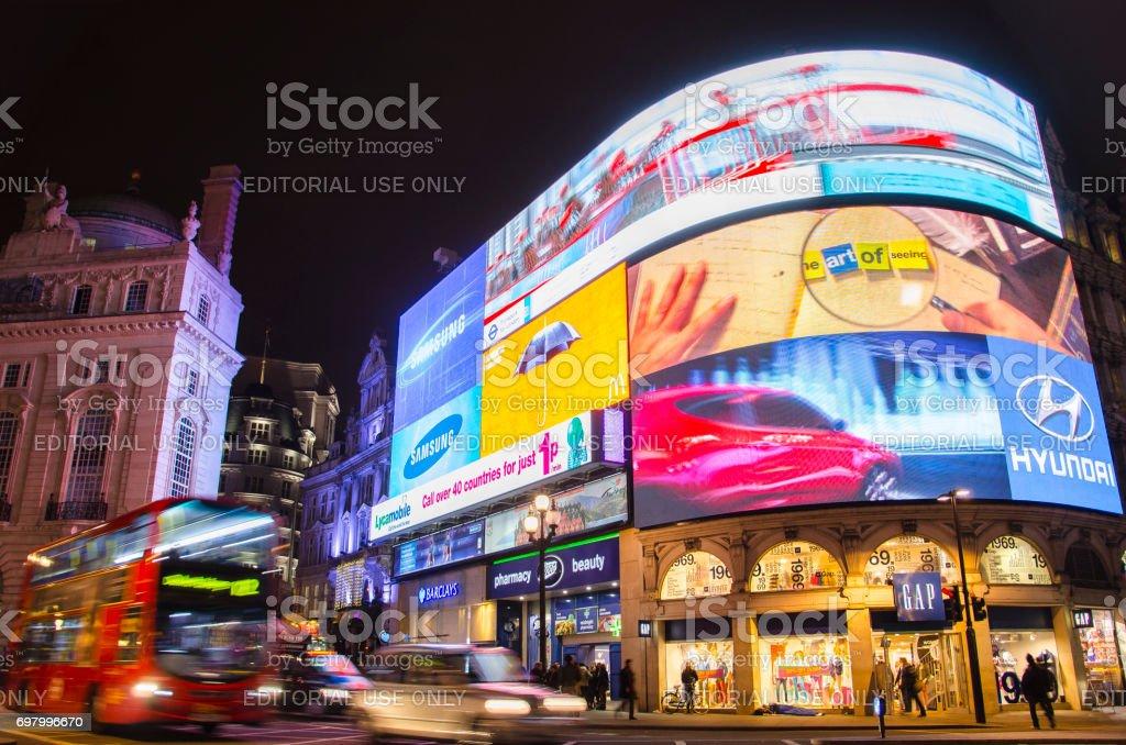 Picadilly Circus, London. stock photo
