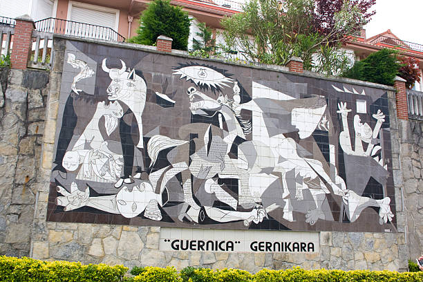 picasso guernica depiciton - yt stock pictures, royalty-free photos & images
