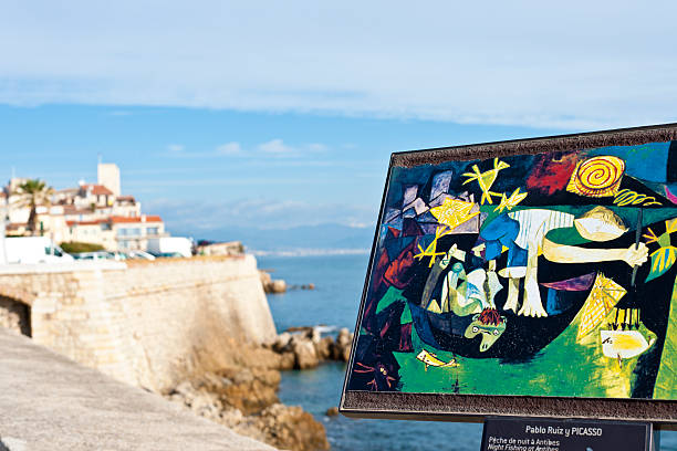 Picasso Painting at Antibes