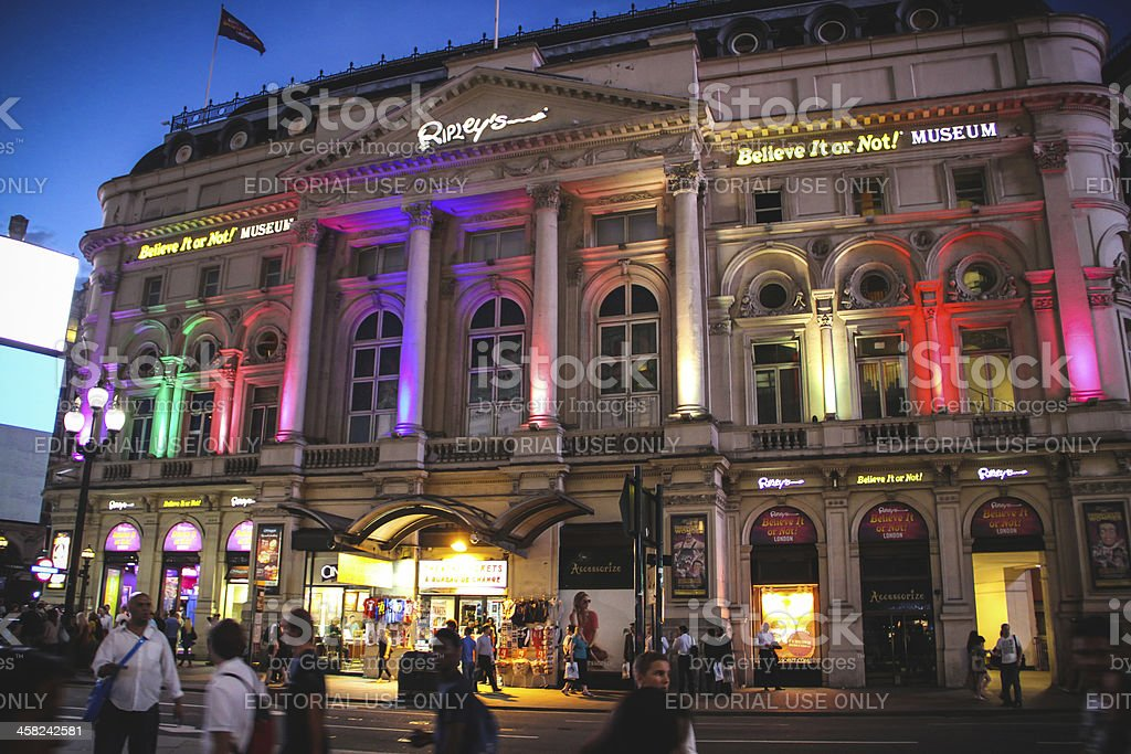 Piccadilly Circus at night, London stock photo