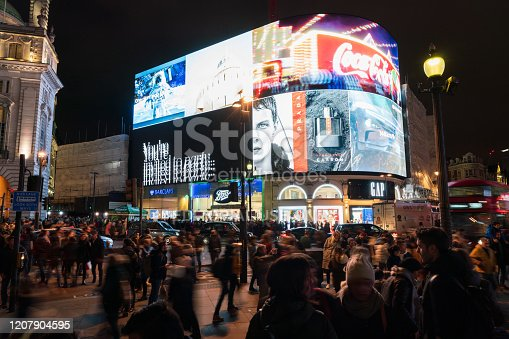 525568423 istock photo Piccadilly Circus at night 1207904595