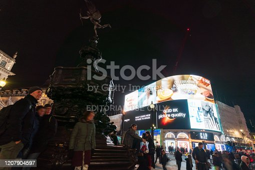 525568423 istock photo Piccadilly Circus at night 1207904597