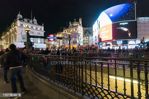 525568423 istock photo Piccadilly Circus at night 1207904619
