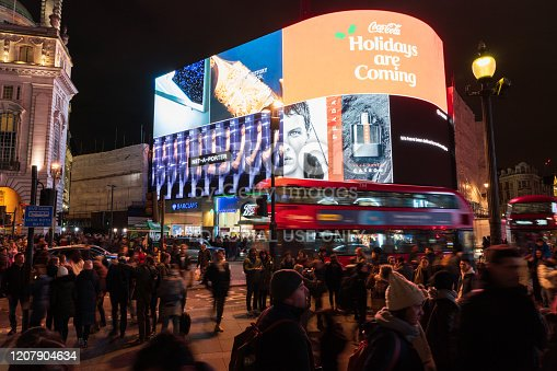 525568423 istock photo Piccadilly Circus at night 1207904634