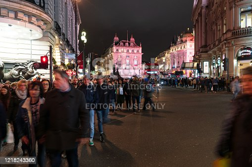 525568423 istock photo Piccadilly Circus at night 1218243360