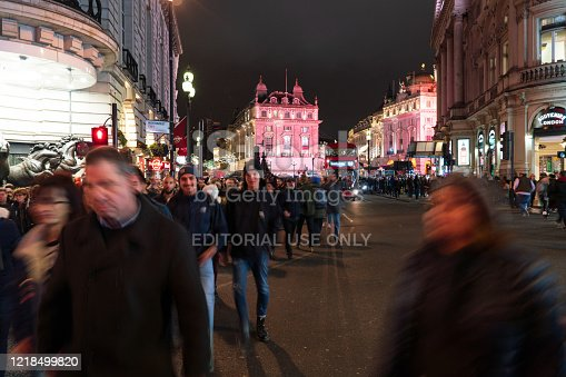 525568423 istock photo Piccadilly Circus at night 1218499820
