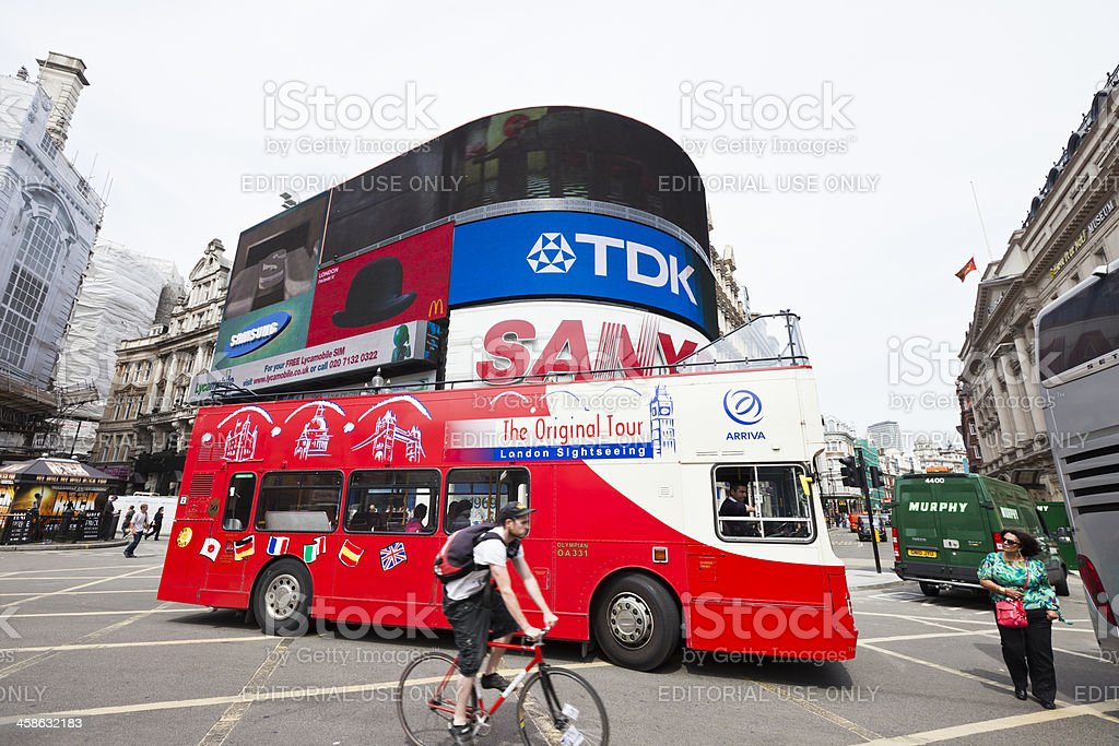 Piccadilly Circus in London royalty-free stock photo