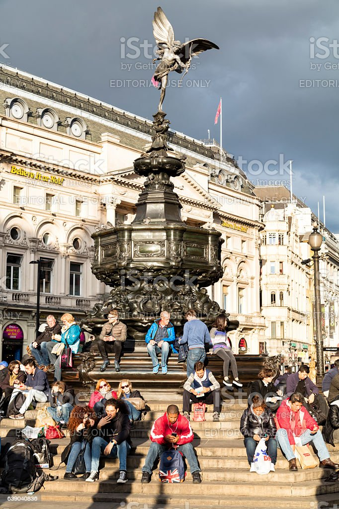 Piccadilly Circus, London, England stock photo