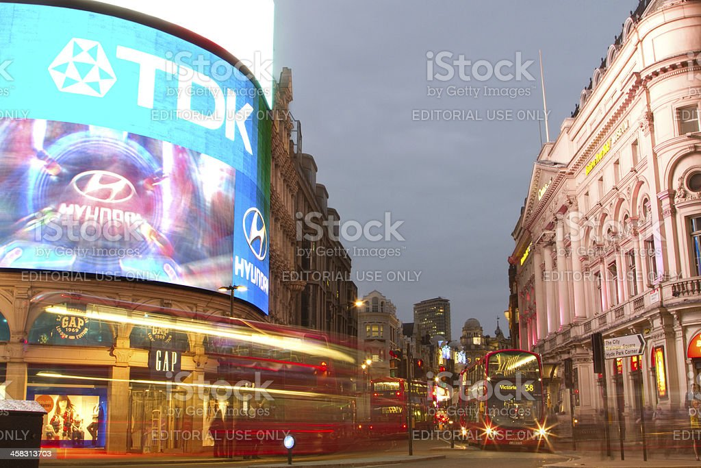 Piccadilly Circus, London royalty-free stock photo