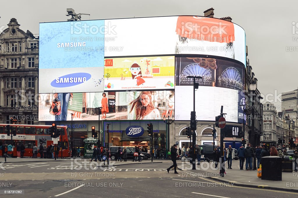 Piccadilly Circus - London stock photo