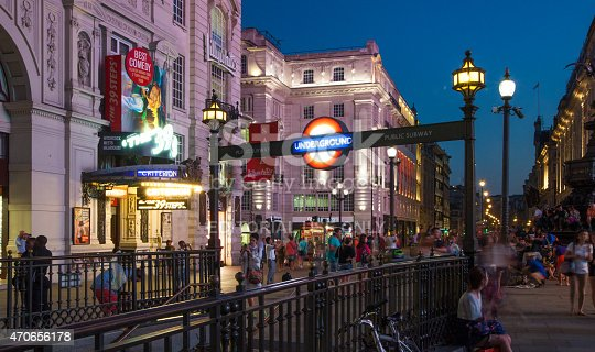istock Piccadilly Circus roads junction, London 470656178