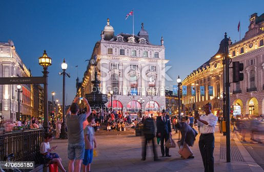 istock Piccadilly Circus roads junction, London 470656180