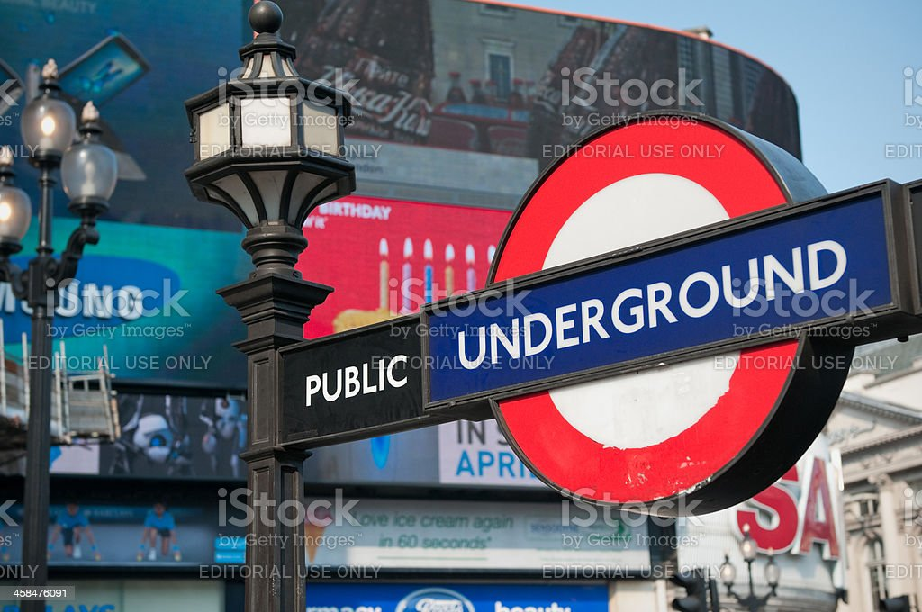 Piccadilly Circus tube Underground station, London royalty-free stock photo