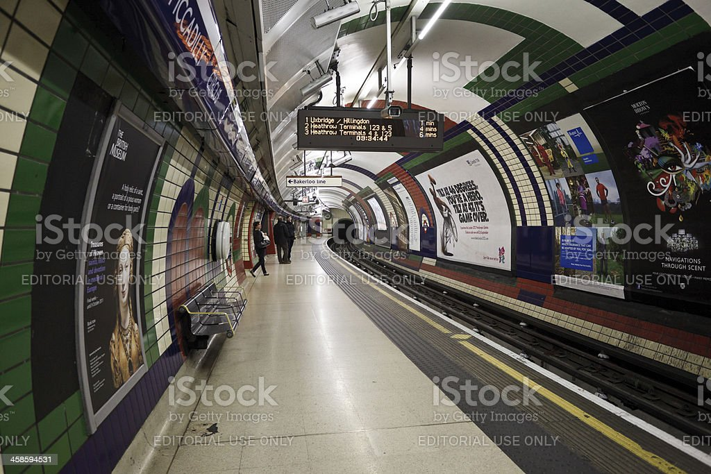 Piccadilly Circus Underground Station in London royalty-free stock photo