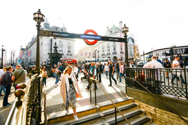 Estación de metro de Piccadilly Circus, Londres - foto de stock