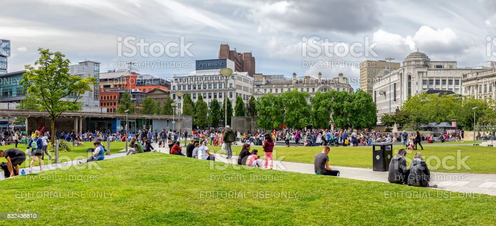 Piccadilly Gardens stock photo