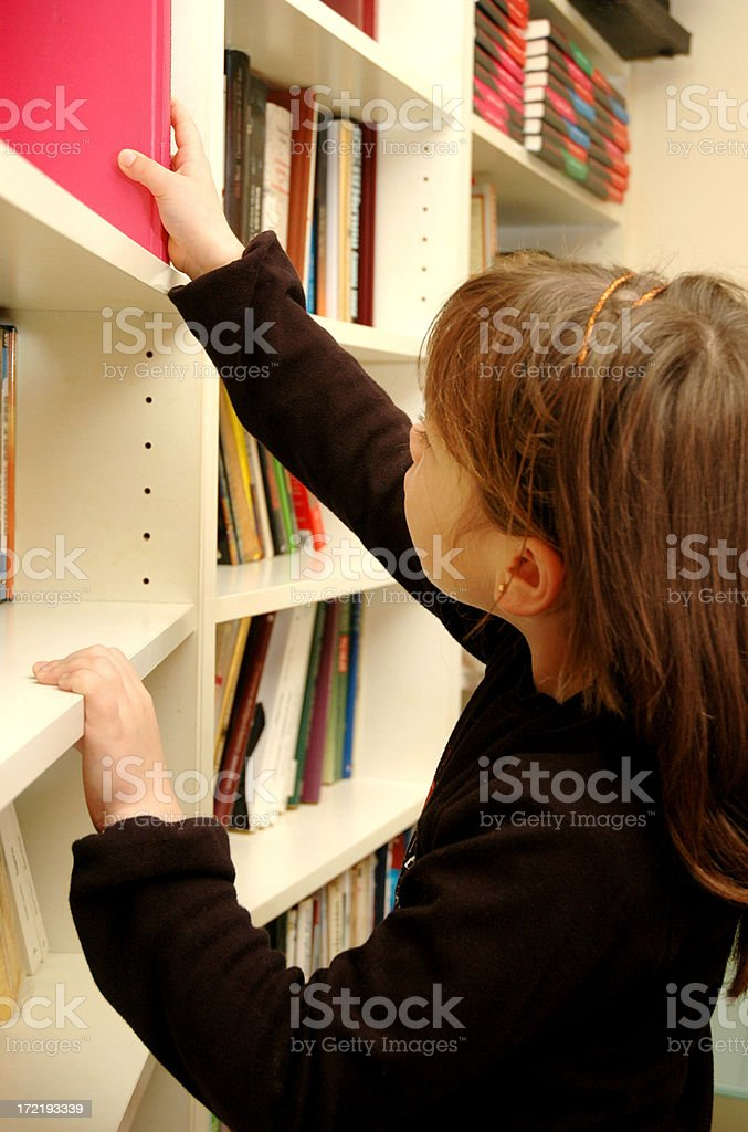 Pick a book royalty-free stock photo