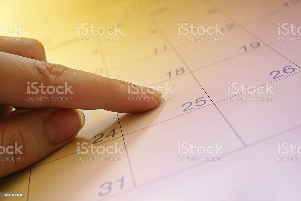 Pick a Date royalty-free stock photo