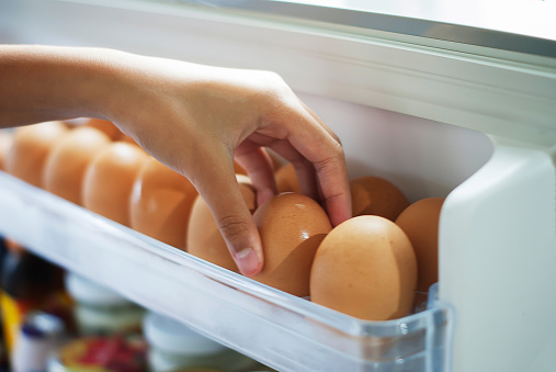 istock Pick eggs from the refrigerator 507754906