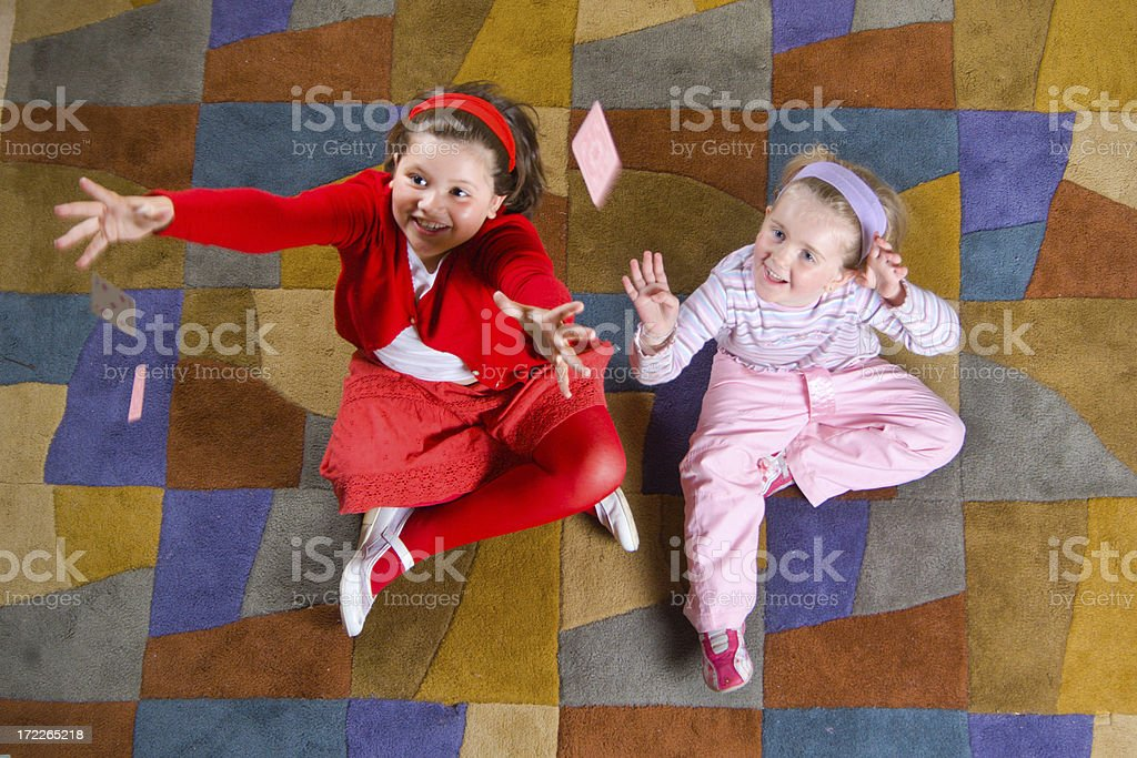 Pick in up cards royalty-free stock photo