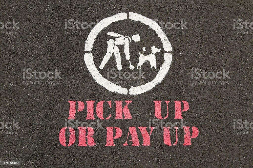 pick up dog crap sign stock photo