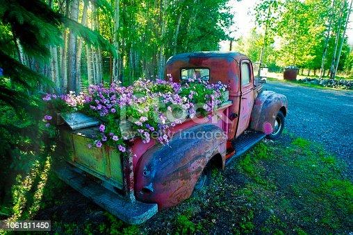 Pick Up Truck as Flower Planter